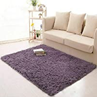 XHSP Super Soft 1.8 Thick Shag Living Room Carpet Bedroom Area Rugs Floor Rug Carpets Home Decor 120x160cm/48x63