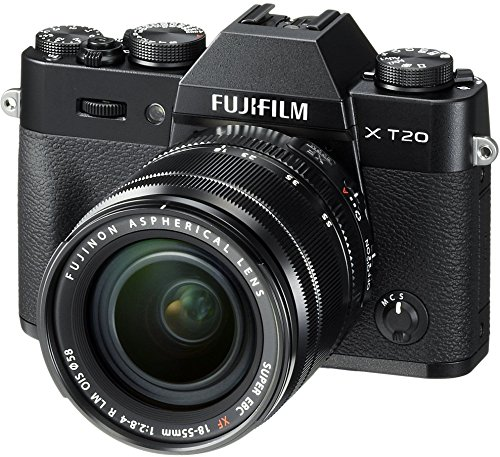 Fujifilm X-T20 Mirrorless Digital Camera w/XF18-55mmF2.8-4.0 R LM OIS Lens-Black ()
