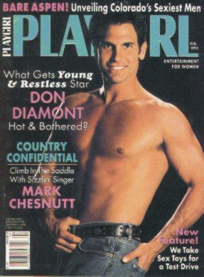 Playgirl Magazine February 1995: DON DIAMONT hot and bothered; MARK CHESNUTT country confidential