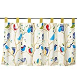 Kitchen Window Curtains Diy Cute Birds Cotton Pinted Lace Window Treatment Curtains Valances for Kitchen Bath Bedroom Living Room 55 x 27 inch