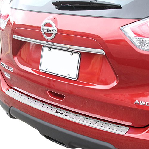 Red Hound Auto Rear Bumper Protector 2014-2016 Compatible with NIssan Rogue Scratch Scratch Tailgate Trim Cover Custom Fit Chrome ()