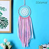 Wall of Dragon Gift India Pink Lace Dreamcatcher Wind Chimes Indian Style Feather Pendant Dream Catcher