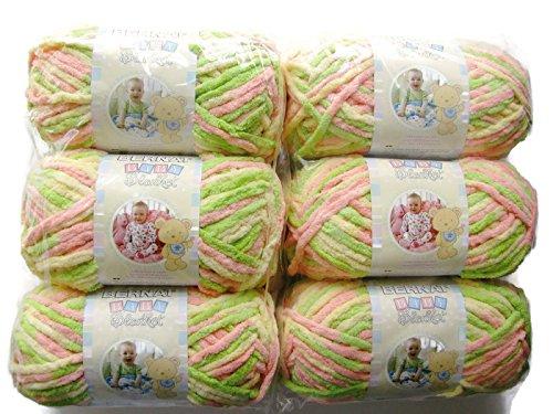 - BERNAT Baby Blanket Yarn, 3.5oz, 6-PACK (Little Sunshine)