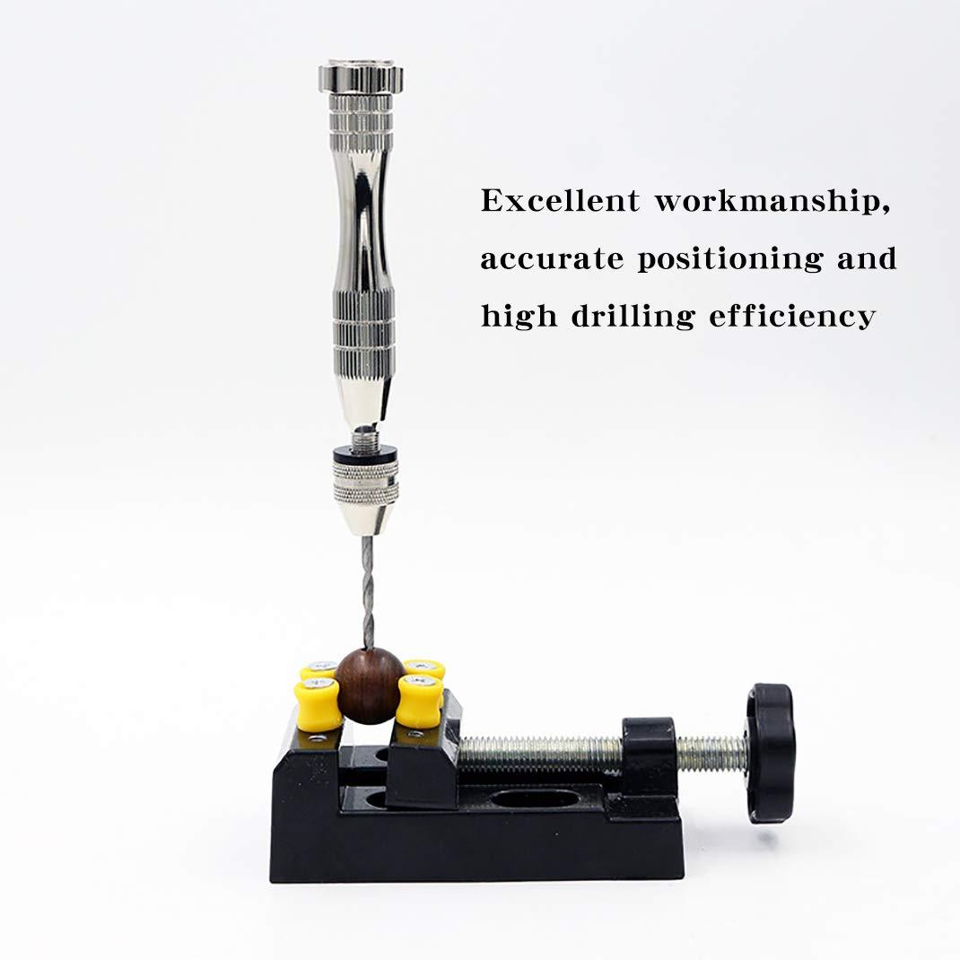 0.6-3mm iSuperb Handbohrer Schraubstock Pr/äzisions Pin Vise mit 10 Spiralbohrer Rotierende Werkzeuge f/ür Resin Schmuck Holz Basteln