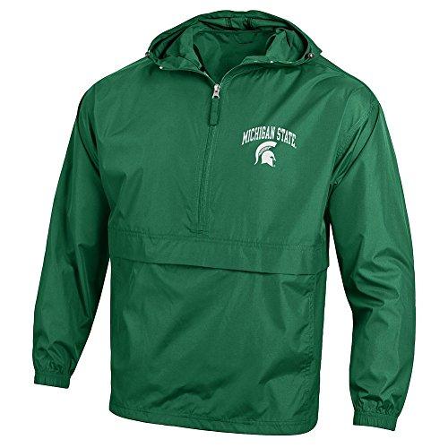 Elite Fan Shop Michigan State Spartans Packable Jacket Green - XL