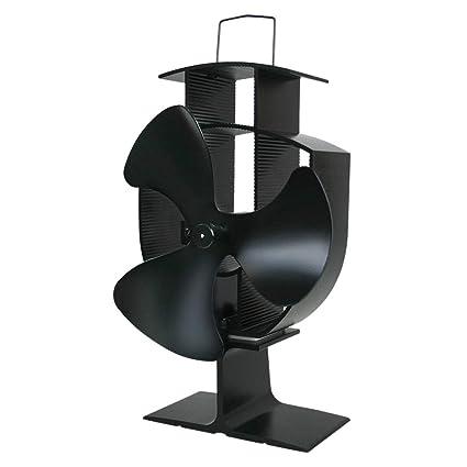 KunmniZ 3 Cuchillas Calentador El¨¦ctrico Estufa Ventilador Silencioso De Aluminio Respetuoso Del Medio