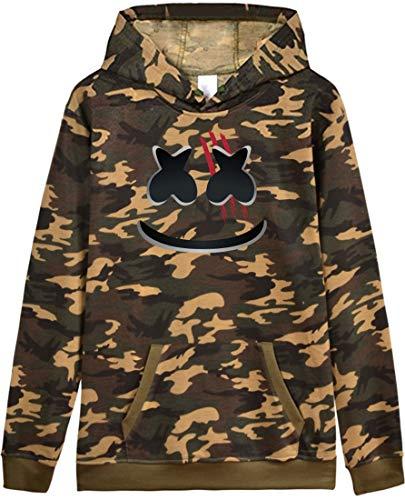 Camouflage Marshmello Zampa Orma Donna Faccia Felpe Sorridente Di Dj Senza Sweatshirt Emilyle Stampa Cappuccio OqPIwTOv