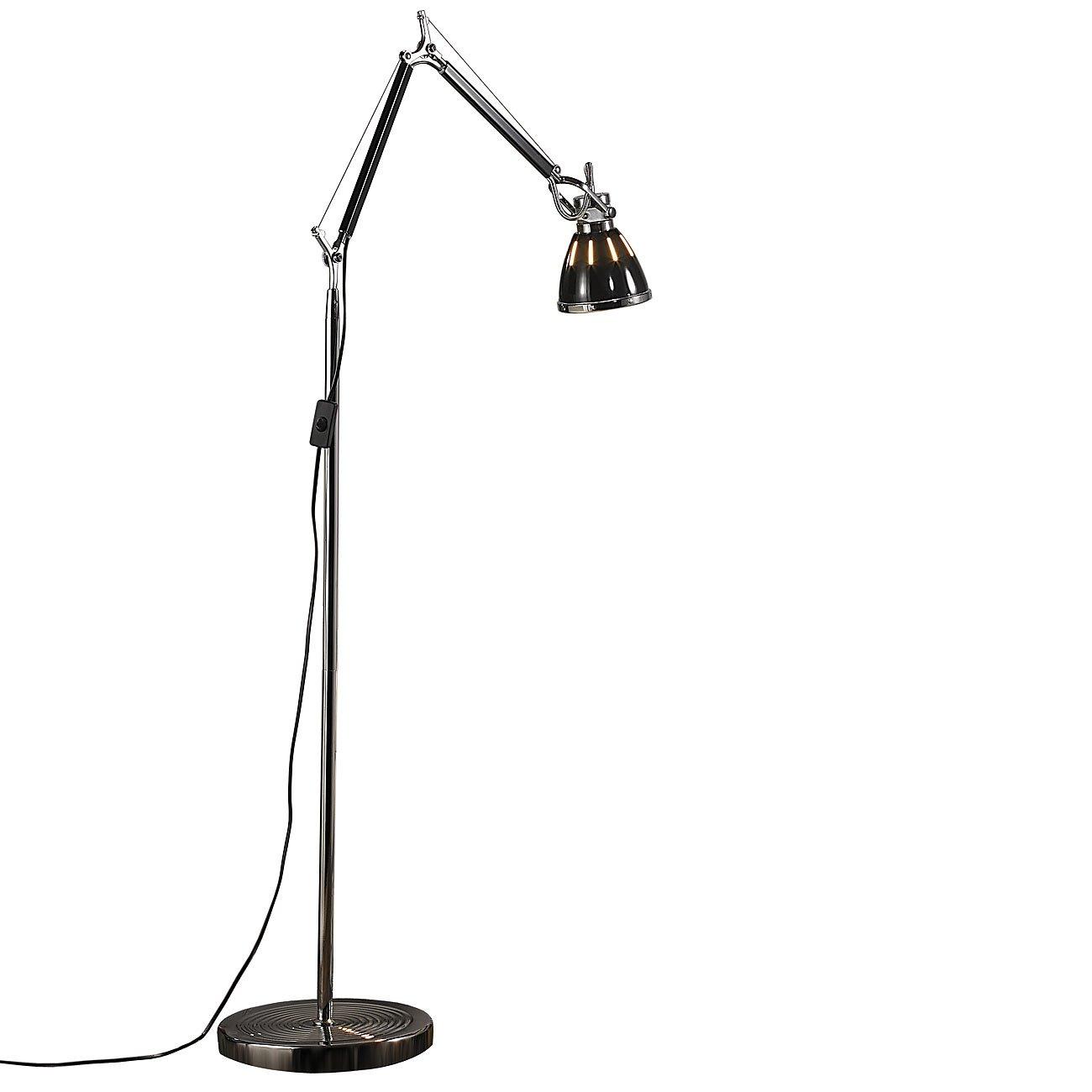 Lunartec Stehlampe  Elegante Retro-Stehleuchte warmweiß im SMD-LED-Stromsparpaket (LED Stehlampe)