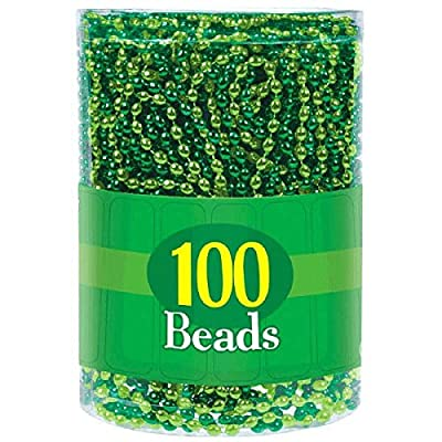 Amscan 393383 Green Bead Necklaces, 7.2 x 5.8 x 5.8: Kitchen & Dining