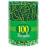 Wee willy St. Patrick's Day Party Bead Necklaces , Green, Plastic , Various Sizes, Pack of 100