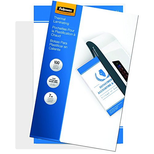 Fellowes Laminating Pouches, Thermal, Legal, 7 Mil, 100 Pack (52046)