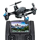 Tekstra Hubsan X4 H107D Micro Drone Quadcopter with FPV 720P HD Camera, Black