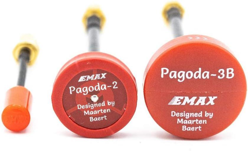 2 Pcs Emax Nano FPV Antenne 50Mm 5.8G 3DBI RHCP Super Mini TX TX Antenne MMCX Connecteur Droit pour RC FPV Racing Drone Rouge