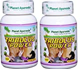 Planet Ayurveda Tribulus Power, 500mg Veg Capsules – 2 Bottles – Bring Out the Man in You For Sale