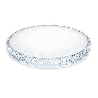 VINGOR LED 60w Kristall Starlight Effekt Deckenleuchte Rund Kaltweiss 6000K 6500K Deckenbeleuchtung Fr