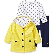 Little Me Baby Girls' 3 Piece Jacket and Pants Set, Daisy New, 12 Months