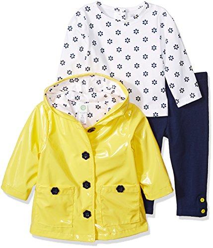 little me para bebé niña chamarra y pantalones de 3piezas, Daisy New, 2 Años