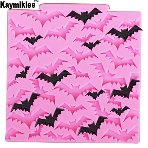 M946 Bat Silicone Mold Halloween Cake Border Cupcake Fondant Cake Decorating Tools Candy Clay Chocolate Gumpaste Moulds