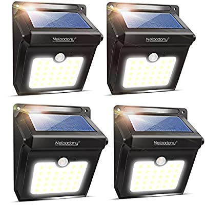 Solar Motion Sensor Light Outdoor, Super Bright 28 LED Security Light Waterproof Motion Activated Wall Lights