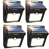 Wireless Solar Motion Sensor Light 100% Upgrade New Rechargeable Waterproof Security Lights