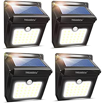 URPOWER Solar Lights 8 LED Wireless Waterproof Motion Sensor Outdoor ...
