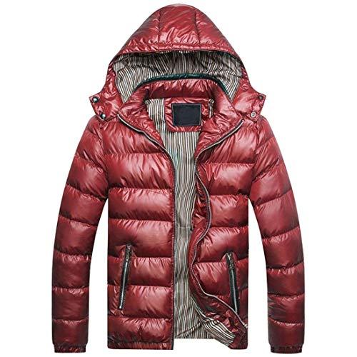 Giacca Lungo Abbigliamento Collegio Ispessito Moda Calda Outerwear Cappotto Cerniera Rot Inverno Degli Uomini FHXzn