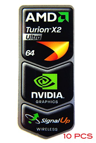 VATH 10 Pieces of Original AMD Turion X2 Ultra 64 / NVIDIA/Signal Up Wireless Sticker 18 x 43.5mm [297x10]