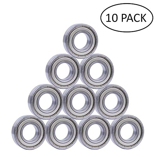 608ZZ 8 x 22 x 7 mm Deep Groove Ball Bearing, 10 Pcs Double Metal Shielded, Fit for Skateboard Bearings, 3D Printer RepRap Wheel, Longboard, Roller Skates, Inline Skates, Scooters ()