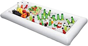 Inflatable Serving Bar Buffet Cooler with Drain Inflatable Buffet Salad Serving Trays Inflatable Beer Cooler Salad Picnic Ice Food Server Covered Large Indoor Outdoor BBQ Picnic Pool Party Supplies