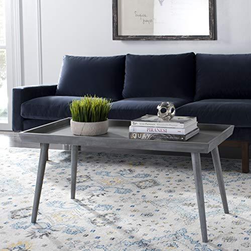 (Safavieh COF5700C Home Collection Nonie Slate Grey Coffee Table,)