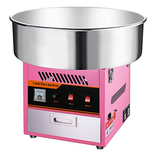Clevr Large Commercial Cotton Candy Machine Party Candy Floss Maker Pink ()