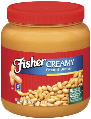 Fisher Natural Peanut Butter 35 Pound