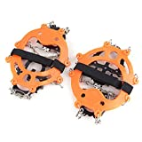 docooler 1 Pair 12 Teeth Claws Crampons Non-slip Shoes Cover Stainless Steel Chain