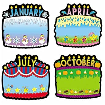 Amazon Com Carson Dellosa 1726 Birthday Cakes Bulletin