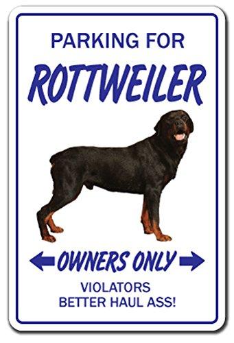 [SignJoker] ROTTWEILER ~Novelty Sign~ dog pet parking gift working Wall Plaque Decoration (Pet Gift Dog Parking)