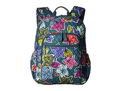 Vera Bradley Campus Tech Backpack Falling Flowers Signature Cotton