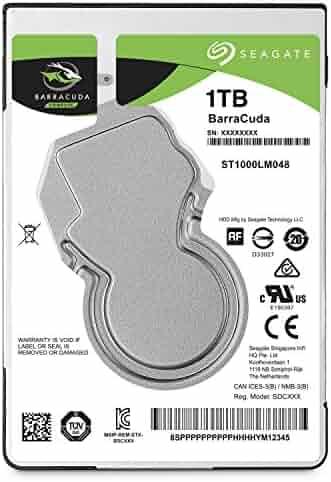 Seagate 1TB BarraCuda SATA 6Gb/s 128MB Cache 2.5-Inch 7mm Internal Hard Drive (ST1000LM048)