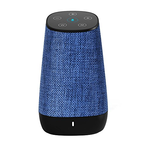 COWIN DiDa with Amazon Alexa Bluetooth Speakers, Smart Wireless Wifi Portable Bluetooth Speaker 15W Output Power with Enhanced Bass- Blue