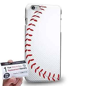 "Case88 [Apple iPhone 6 / 6s Plus (5.5"")] 3D impresa Carcasa/Funda dura para & Tarjeta de garantía - Art Sports Baseball"