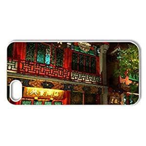 wonderful house facade in china - Case Cover for iPhone 5 and 5S (Houses Series, Watercolor style, White)