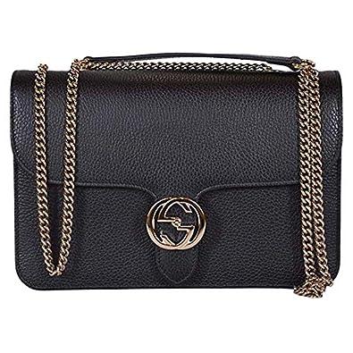 8c17894e2 Amazon.com: Gucci Bree Guccissima Black Crossbody Leather Bag New: Shoes