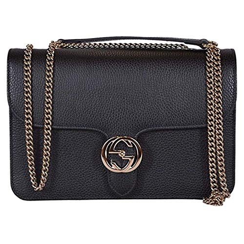 Gucci Bree Guccissima Black Crossbody Leather Bag New