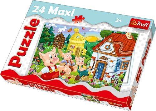 TREFL - Puzzle Los Tres cerditos de 24 Piezas (14185): Amazon.es ...