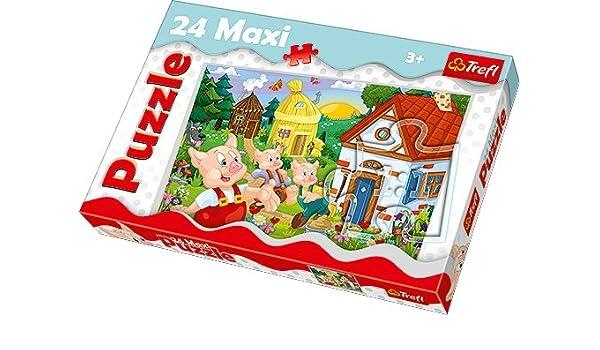 TREFL - Puzzle Los Tres cerditos de 24 Piezas (14185): Amazon.es: Juguetes y juegos