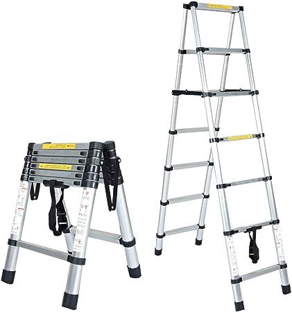 Bseack Escaleras telescópicas Escaleras Extensibles Multiusos Que ensanchan la Escalera de Tijera de extensión con Plegado de Pedal for la renovación Interior Pintura Capacidad de cojinetes: 330 LB: Amazon.es: Hogar