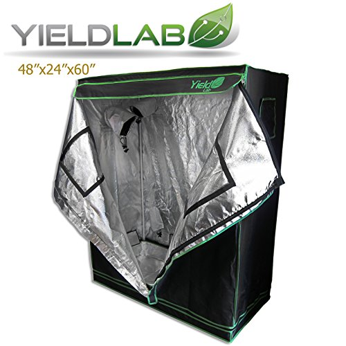51bWlsxCtQL Yield Lab Two Door 48x24x60 Reflective Grow Tent