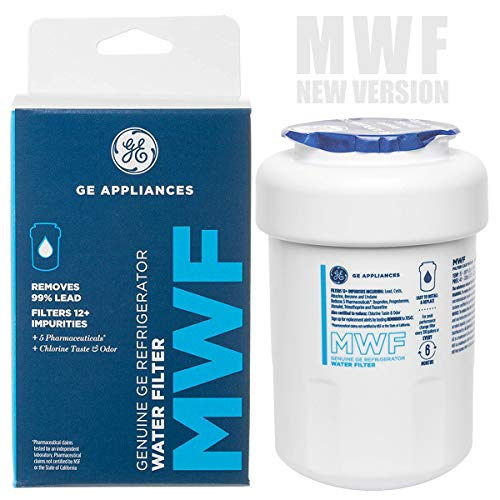 GE MWF Smart Refrigerator Water Filter, General Electric Replacement Cartridge, 1-Pack (New Version)