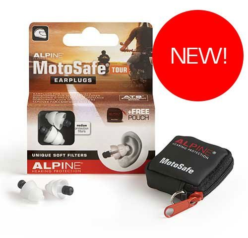 Alpine Hearing Protection Earplugs Motosafe, TOUR. NEW for 2018