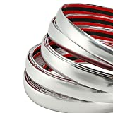 ALAVENTE Car Chrome Moulding Trim Strip For Window Bumper Grille Silver Line (5 Meter X 25mm)