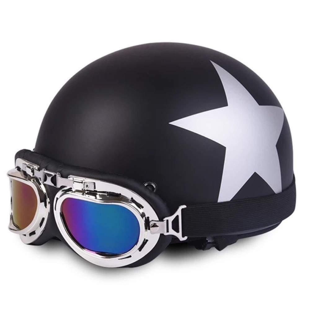 TZQ Harley Helm Motorrad Halbüberzogener Helm Unisex Wintersaison Universal Sonnencreme Warm Reiten Paar Schutzhelm